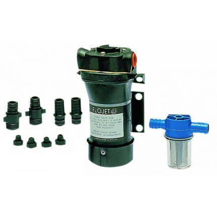 BOMBA DE ACHIQUE Y TRASVASE FLOJET Quad II 24V de 13.5 L/min con filtro