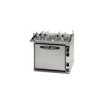 Cocina con 2 quemadores y horno con parrilla CU333GTM Smev
