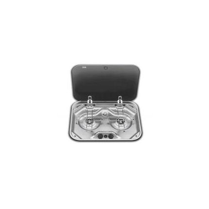 Cocina 2 Quemadores Tapa de Vidrio PI8062M Smev