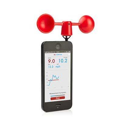 Anemómetro para smartphones - Rojo
