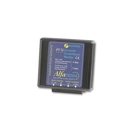 Convertidor CC-CC 24-12 VDC, potencia 3/6A, aislado