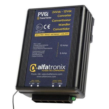 Convertidor CC-CC 24-12 VDC, potencia 6/10A, aislado