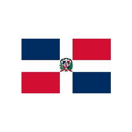 BANDERA REPUBLICA DOMINICANA 45X35